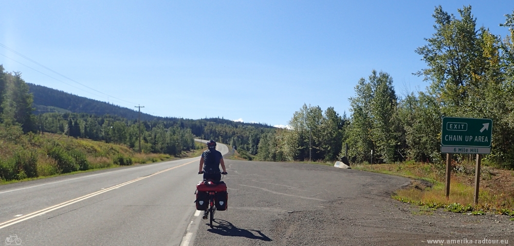 cycling Yellowhead Highway from Houston to Burns Lake.
