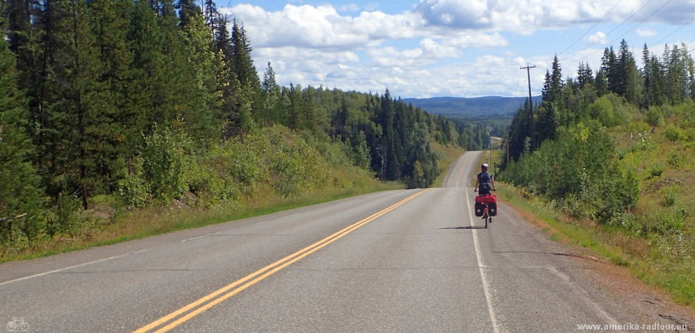 cycling Yellowhead Highway from Houston to Burns Lake