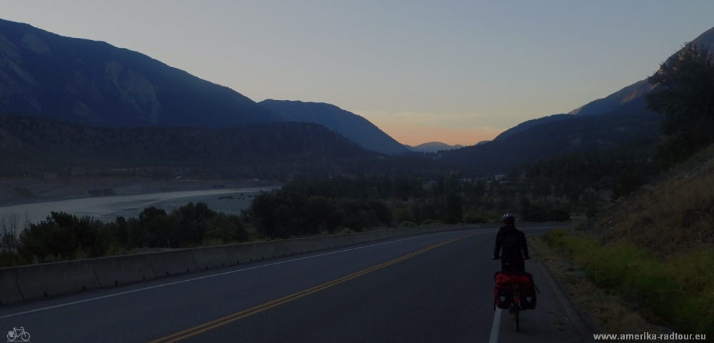 Cycling from Lillooet to Pamberton.  Highway 99 by bicycle.