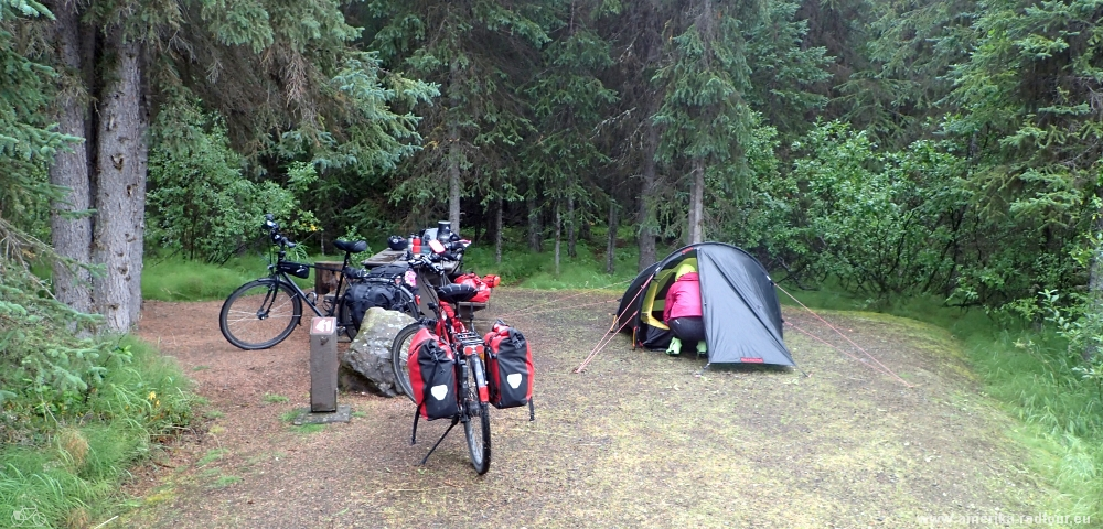 British Columbia and Yukon by bicycle: Cycling the Cassiar Highway northbound. Stage Bell2 Lodge to Kinaskan Lake.