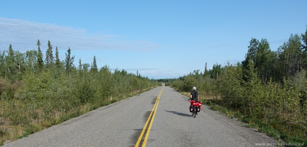 Cycling from Whitehorse to Anchorage via Dawson City.