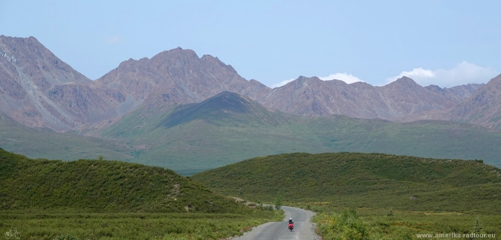 Cycling Denali Highway.